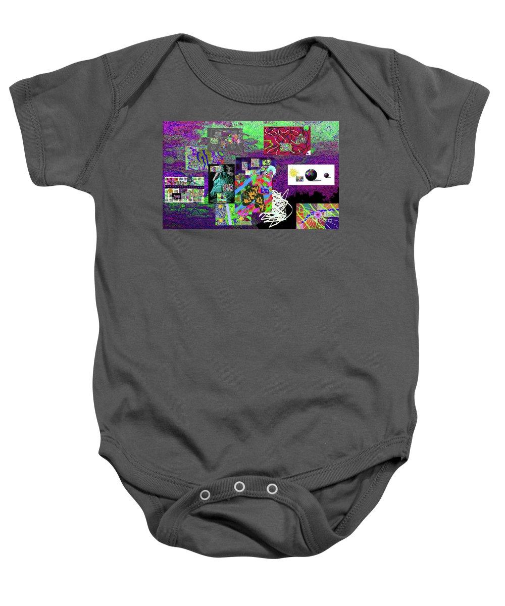 Walter Paul Bebirian Baby Onesie featuring the digital art 9-12-2015abcdefghijklmno by Walter Paul Bebirian