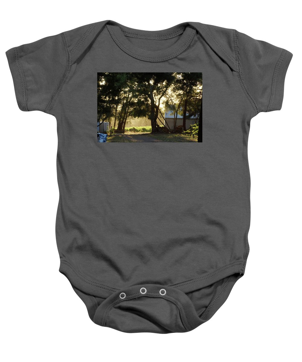 Landscape Baby Onesie featuring the photograph A New Day - Magpie Springs - Adelaide Hills Wine Region - South Australia by Avril Thomas