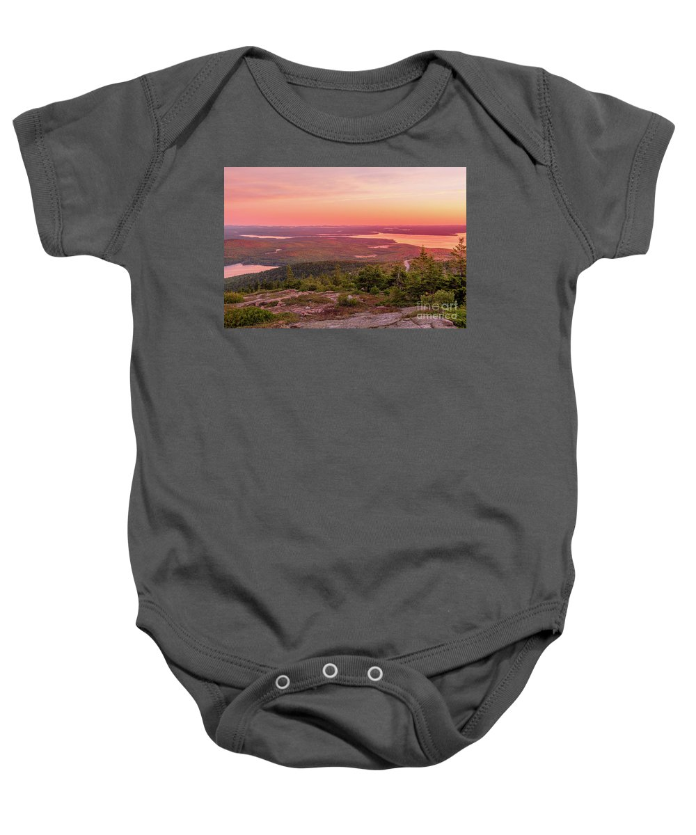 Cadillac Mountain Baby Onesie featuring the photograph Acadia National Park Sunrise by Dylan Brett