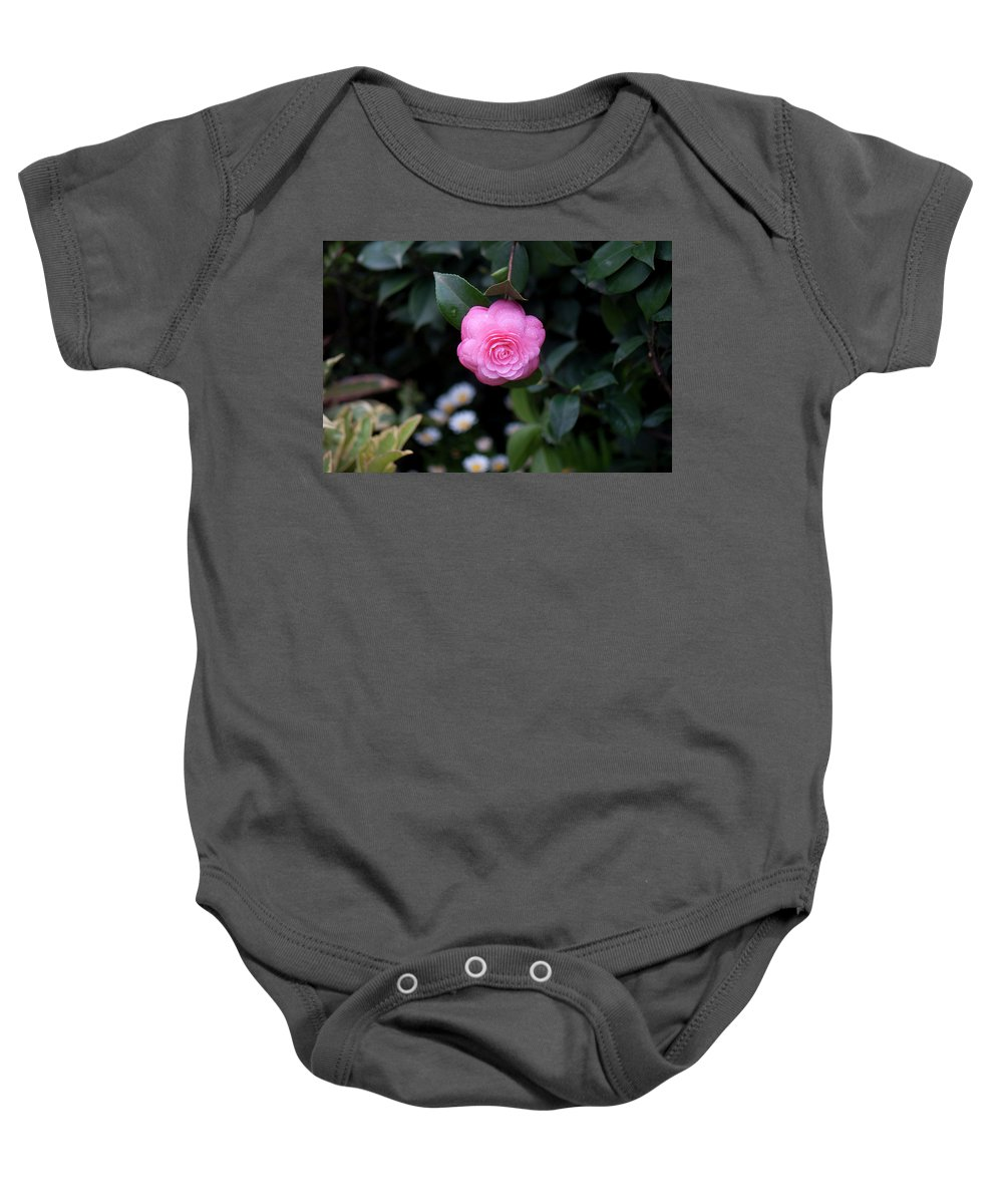 Pink Baby Onesie featuring the photograph After The Rain by Jennette Lau