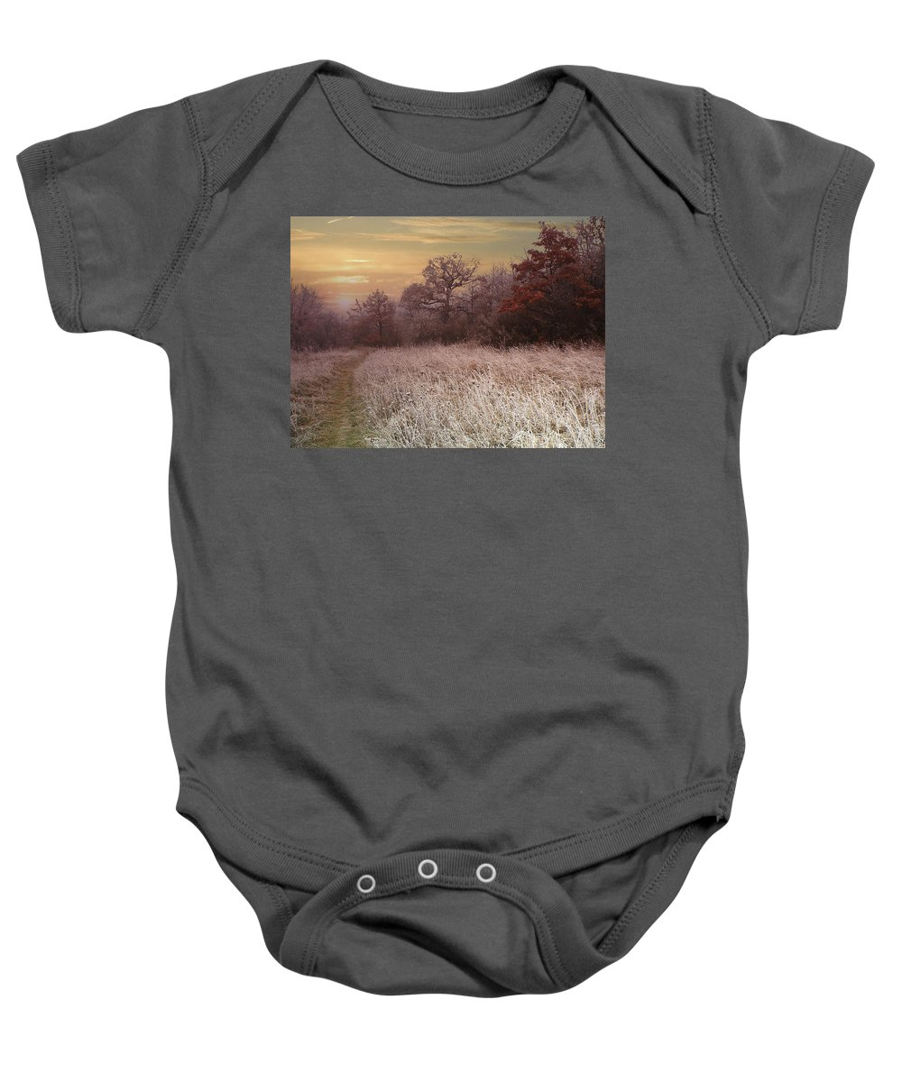 Autumn Baby Onesie featuring the photograph Autumn Frost by Alex Lim