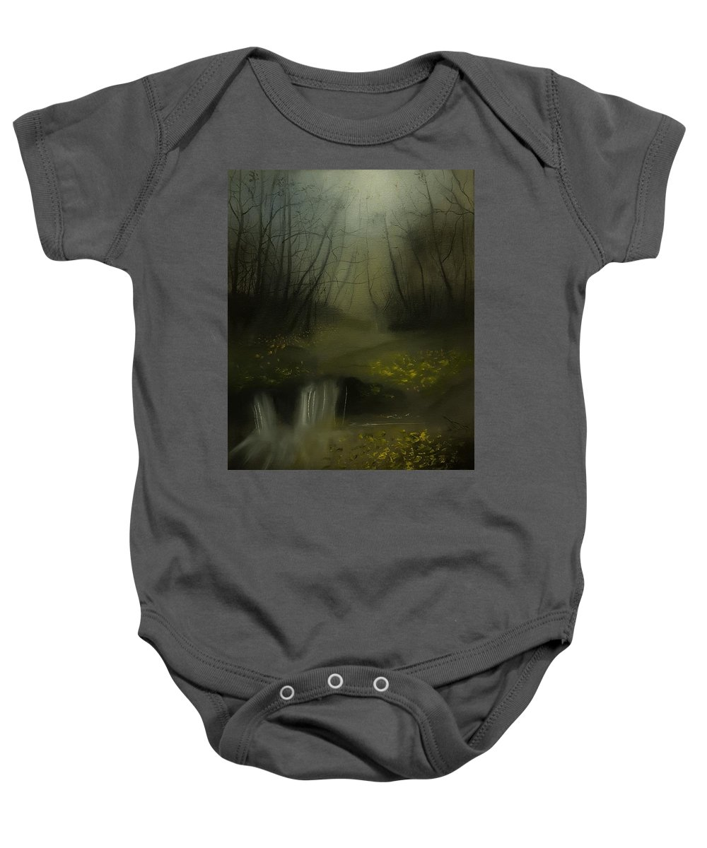 Baby Onesie featuring the painting Autumn Twilight by Michael Hanrahan