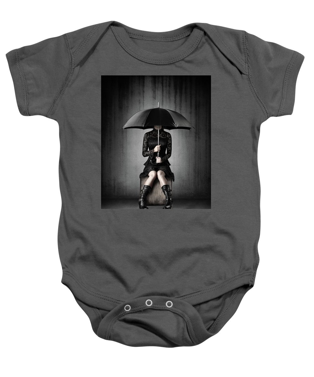 Woman Baby Onesie featuring the photograph Black Rain by Johan Swanepoel