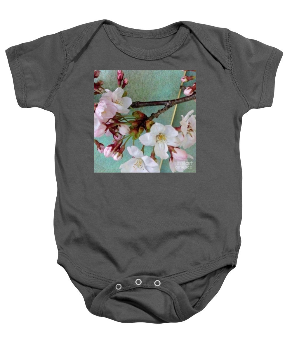 Blossoms Baby Onesie featuring the photograph Blossoms by Naomi Ibuki