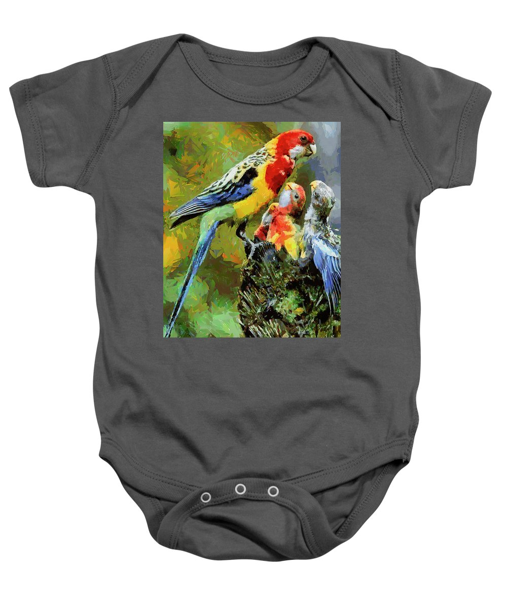 Animals Baby Onesie featuring the painting Cfm13870 by Celito Medeiros