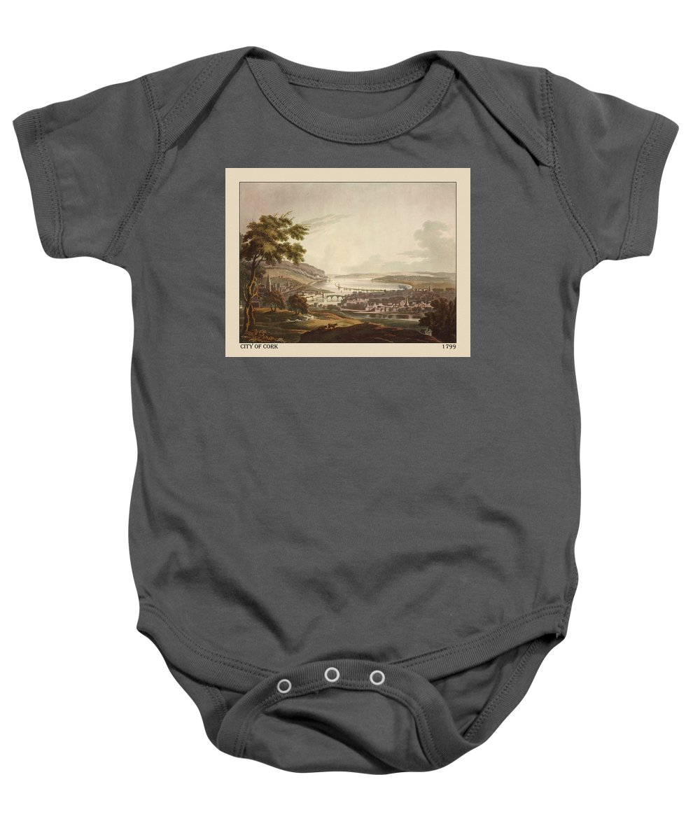 Antique Print Of Cork Baby Onesie featuring the photograph Cork Ireland 1799 by Andrew Fare