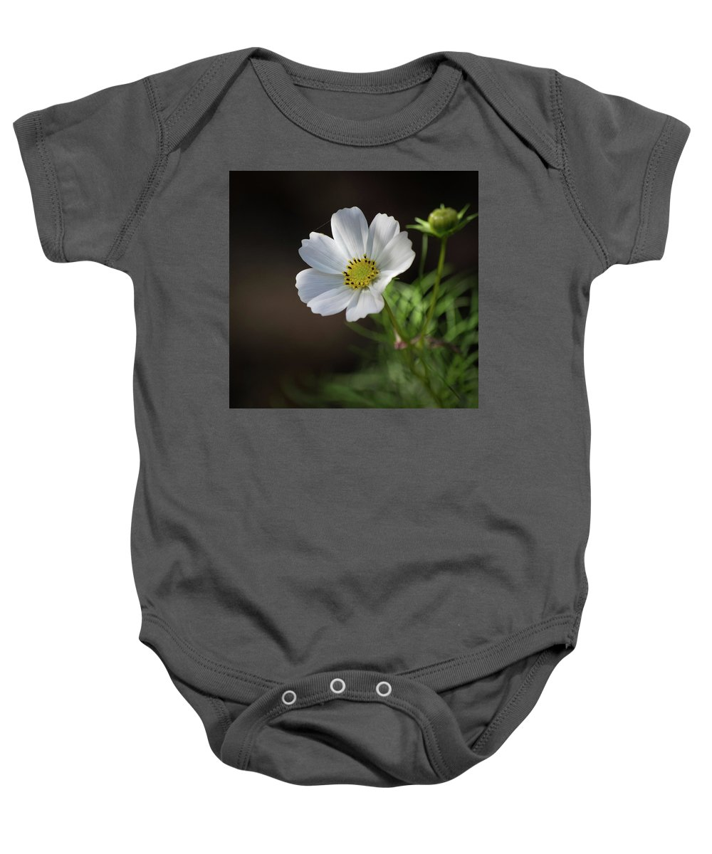 Flower Baby Onesie featuring the photograph Cosmos In The Cottage Garden by Lucy Banks