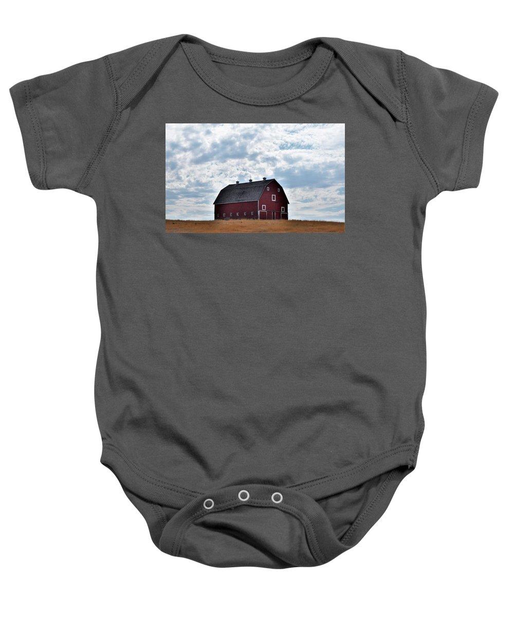 Barn Baby Onesie featuring the photograph Countryside by Sally Falkenhagen