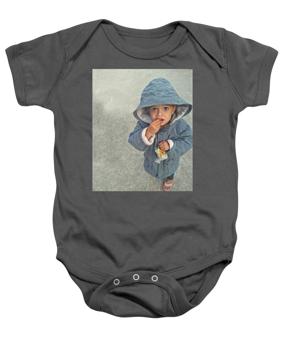 Cute Baby Onesie featuring the photograph Cute baby by Imran Khan