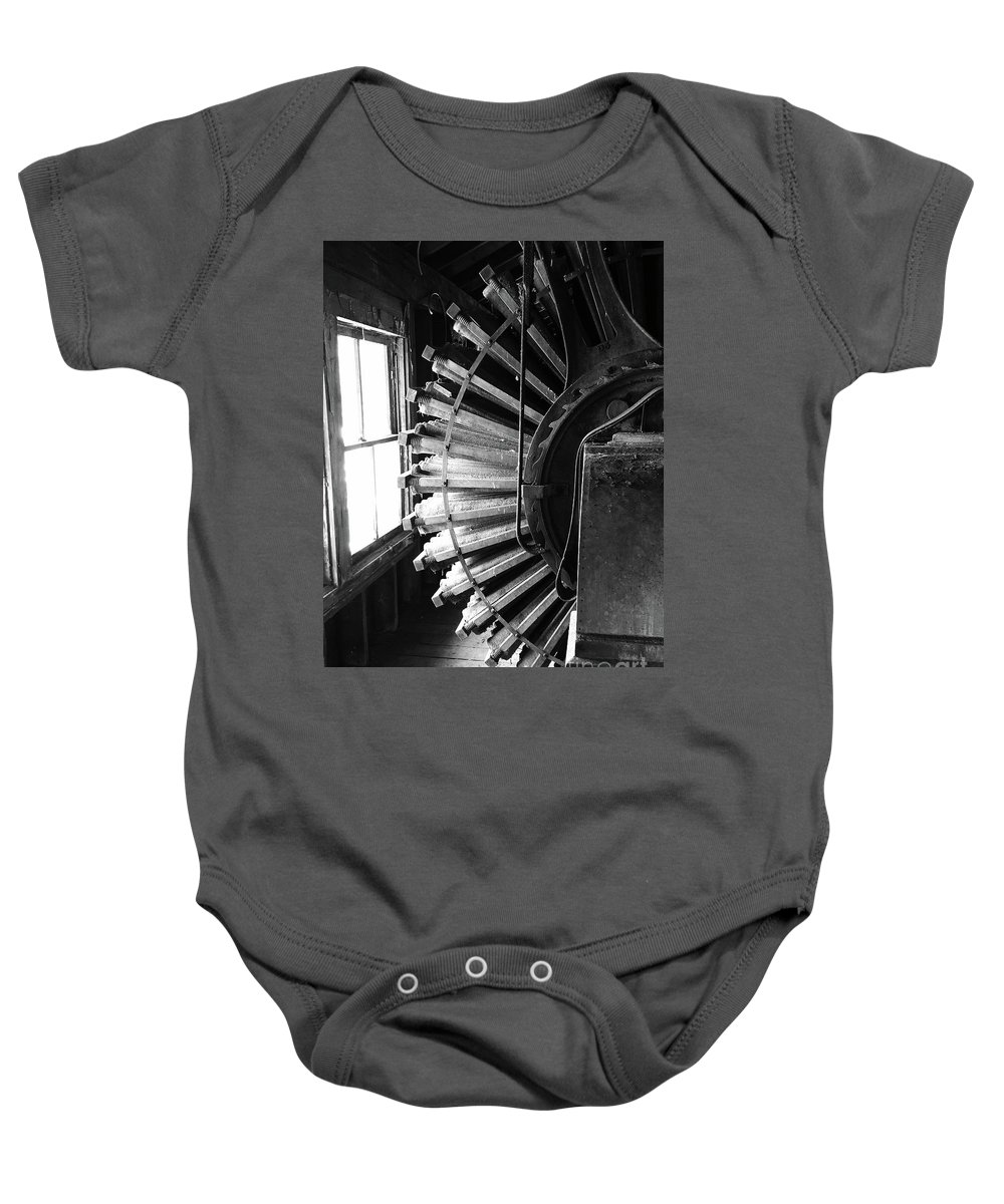 Patterson-altman Mill Baby Onesie featuring the photograph Dust Collector by Megan Cohen