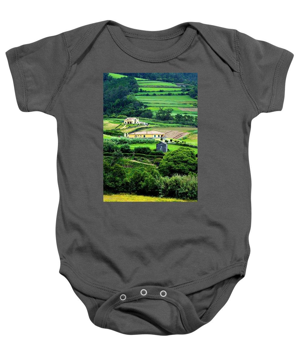 House Baby Onesie featuring the photograph Farm Houses by M Bernardo