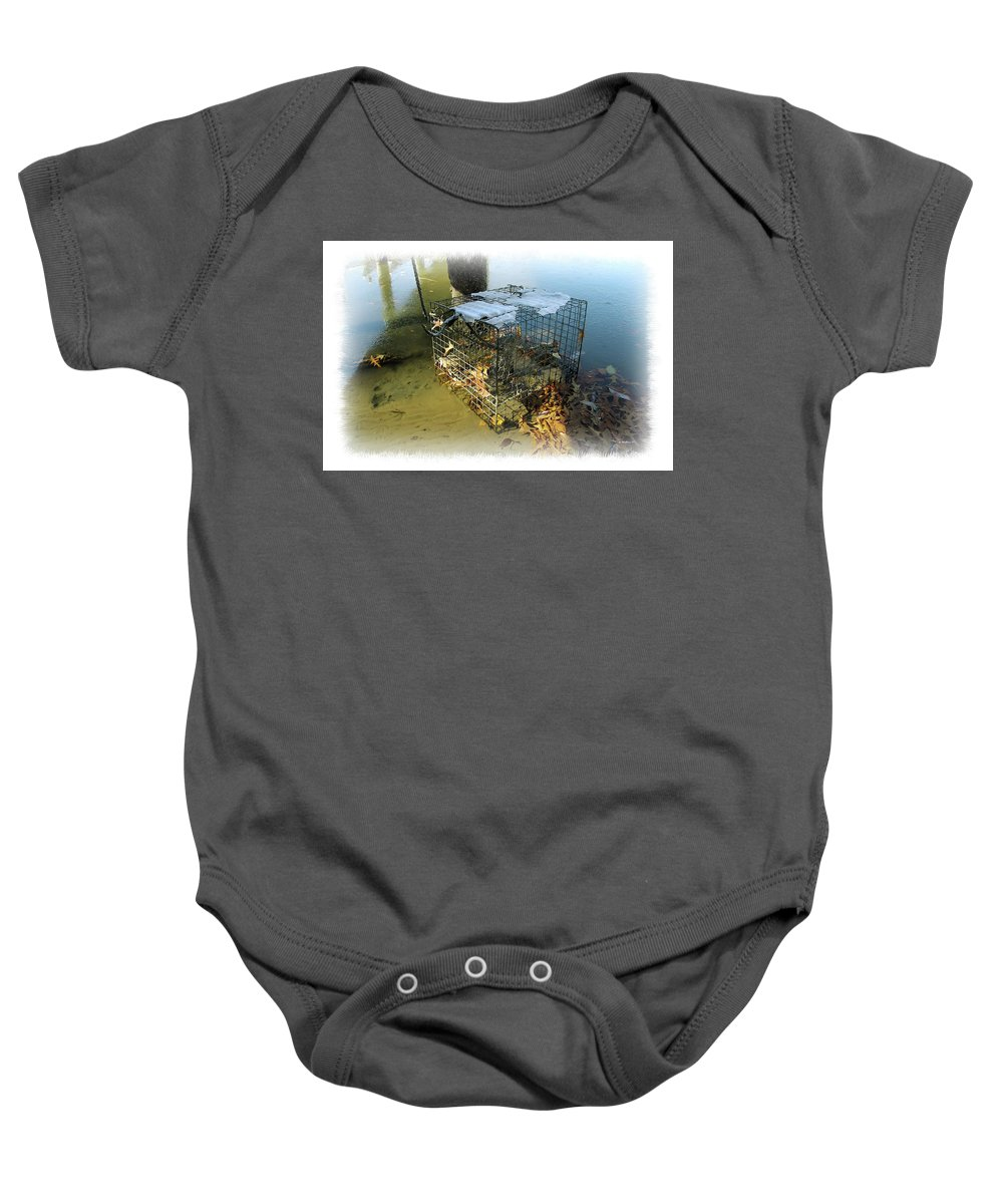 2d Baby Onesie featuring the photograph Forgotten In Winter by Brian Wallace