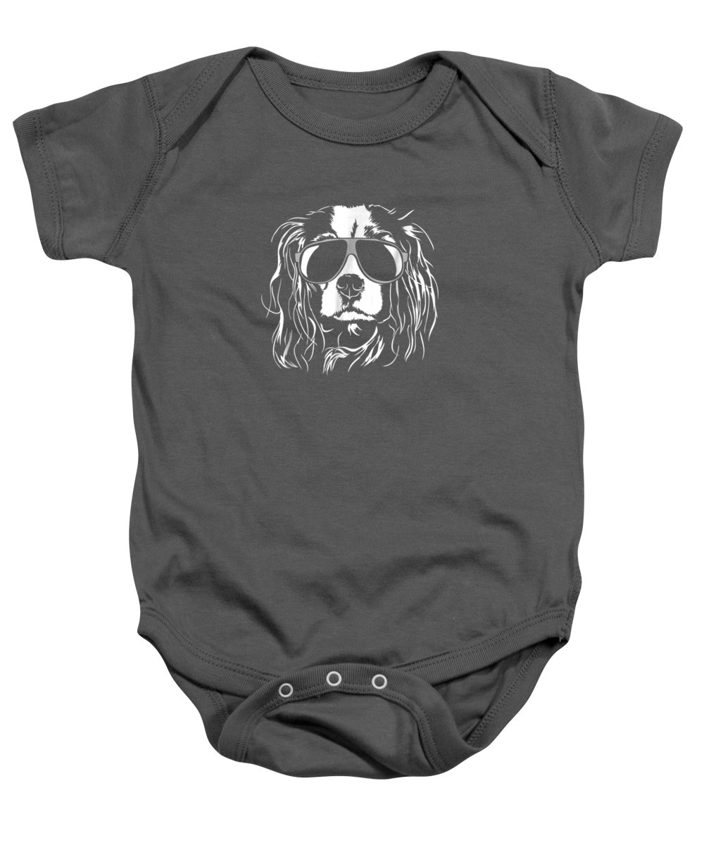 girls' Novelty T-shirts Baby Onesie featuring the digital art Funny Proud Cavalier King Charles Spaniel T Shirt Dog Gift by Do David
