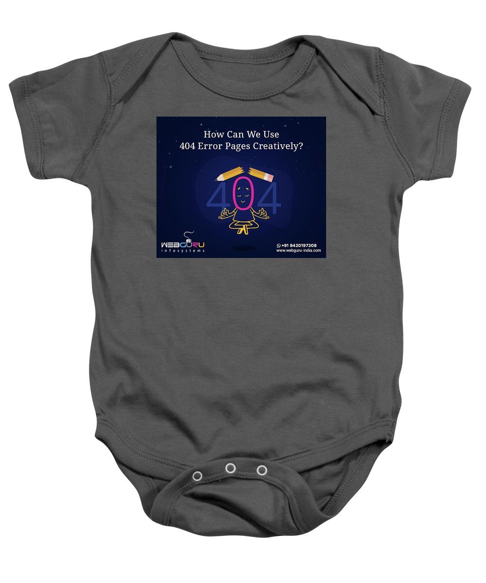 404 Error Pages Baby Onesie featuring the digital art How Can You Turn The 404 Error Pages Interesting And Engaging by Webguru Infosystems