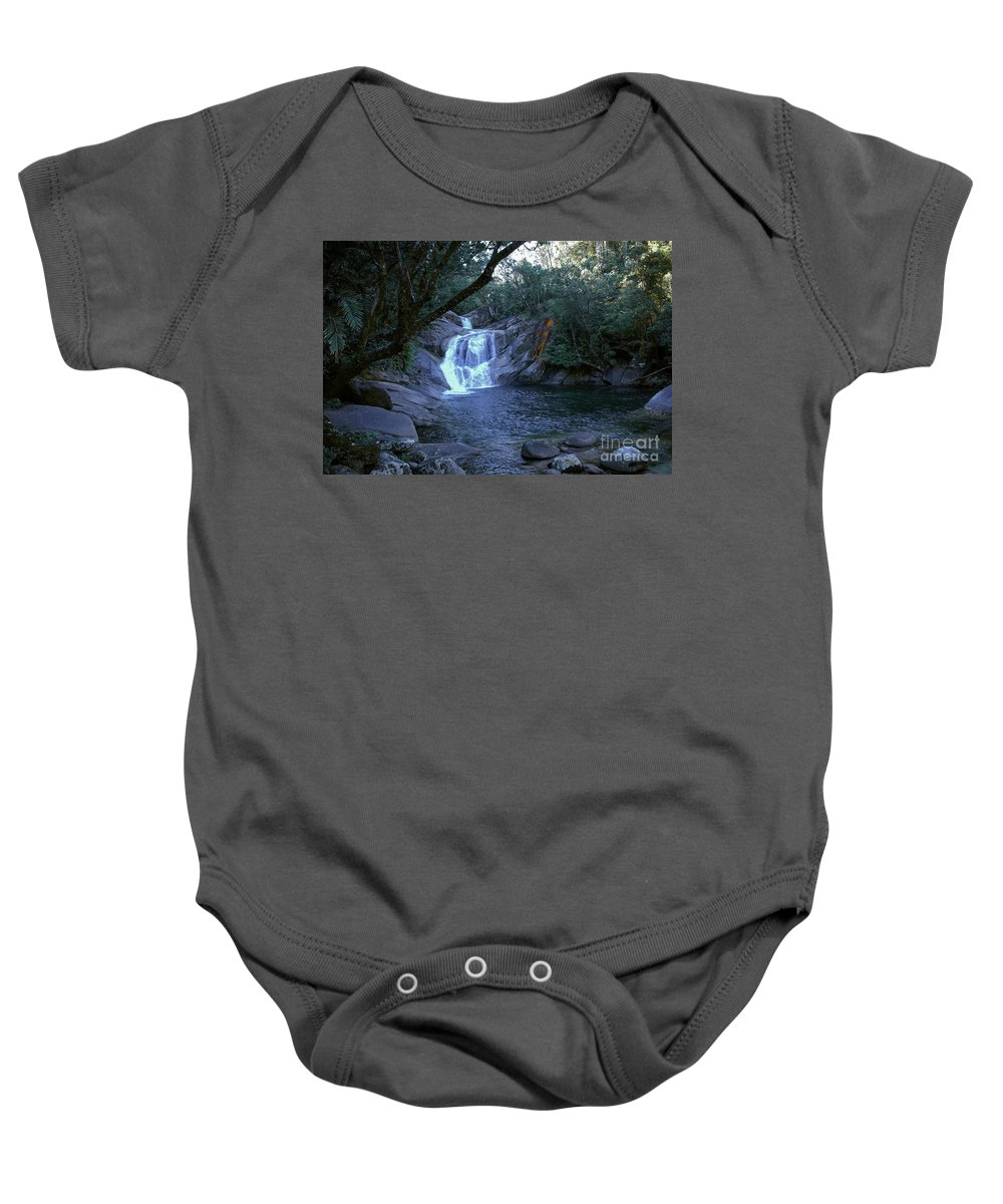 Tropical Baby Onesie featuring the photograph Josephine Falls and Tropical Pool by Kerryn Madsen- Pietsch