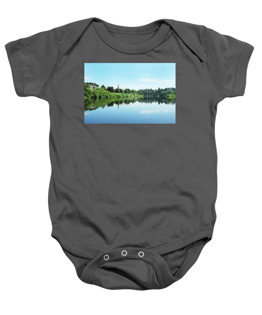 Tweed Baby Onesie featuring the photograph Junction Pool And View Of Tweed At Kelso by Victor Lord Denovan