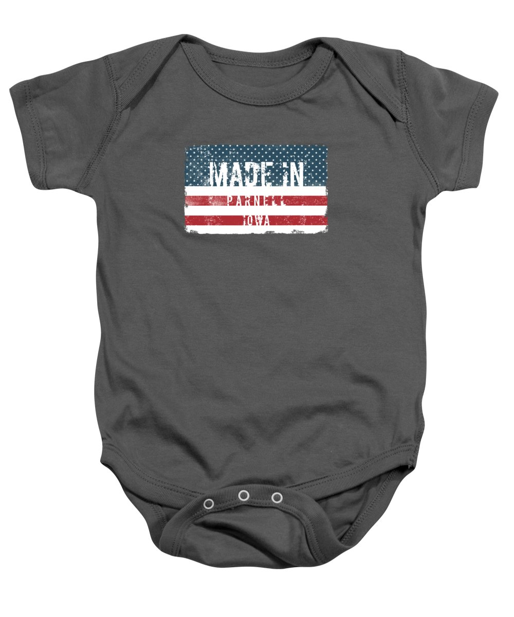 Parnell Baby Onesie featuring the digital art Made In Parnell, Iowa by Tinto Designs