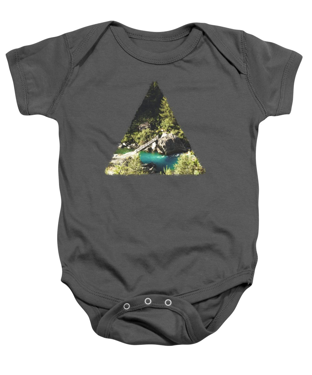 River Baby Onesie featuring the photograph Mallero Mountain River - Lombardia - Italy by Dirk Wuestenhagen