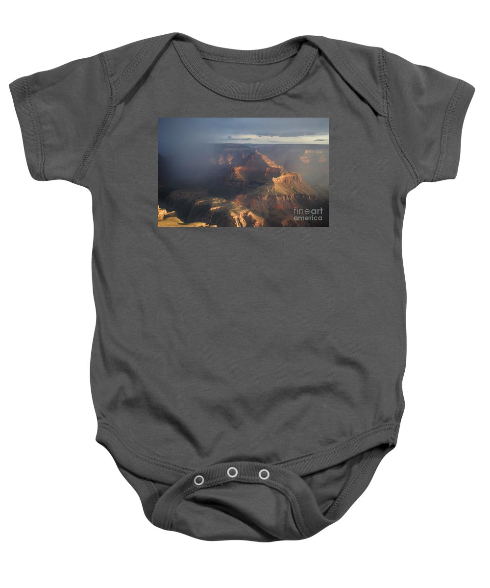Grand Canyon National Park Baby Onesie featuring the photograph Mesmerized At Mather Point by Janet Marie