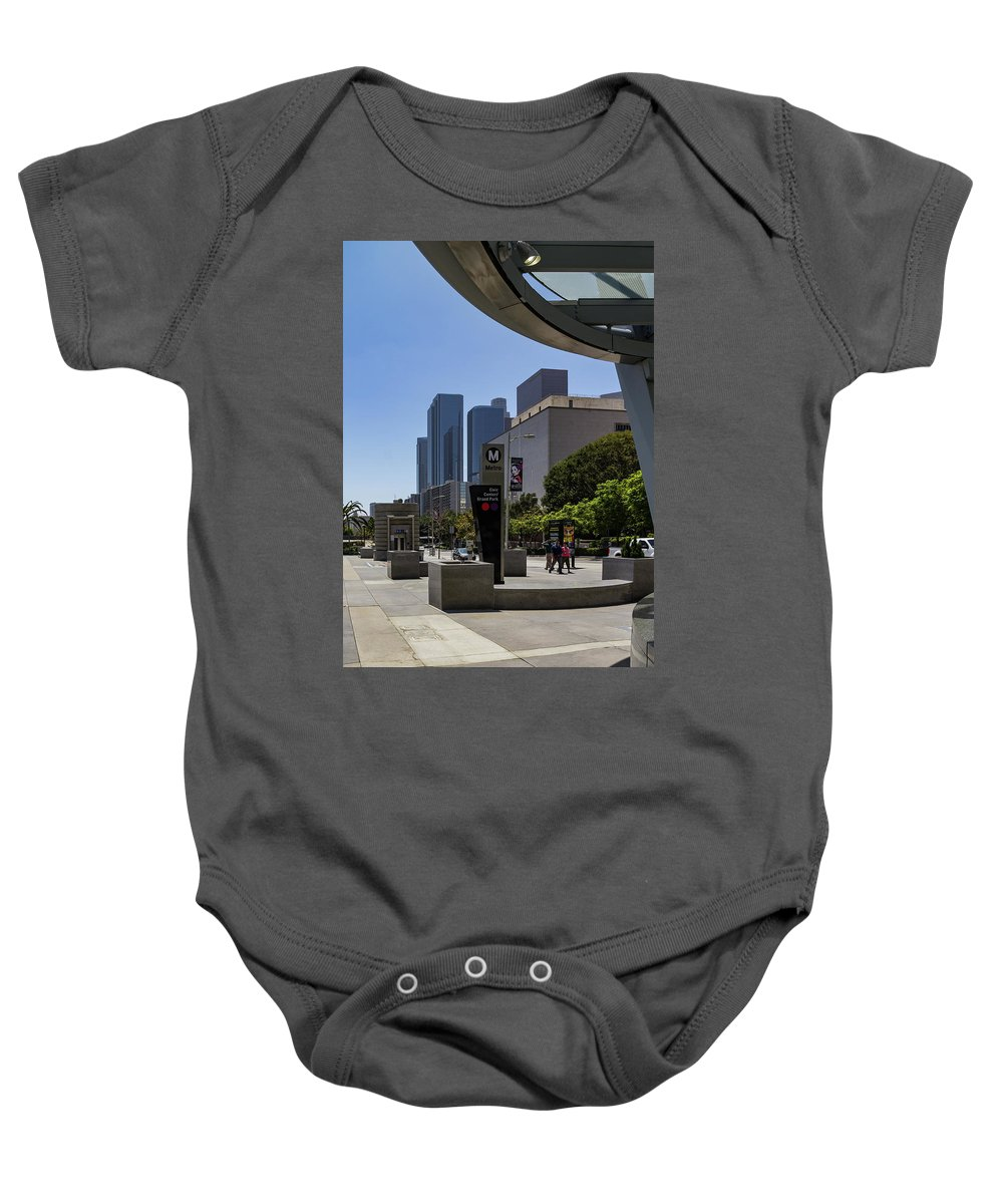 Los Angeles Baby Onesie featuring the photograph Metro Station Civic Center Los Angeles by Roslyn Wilkins