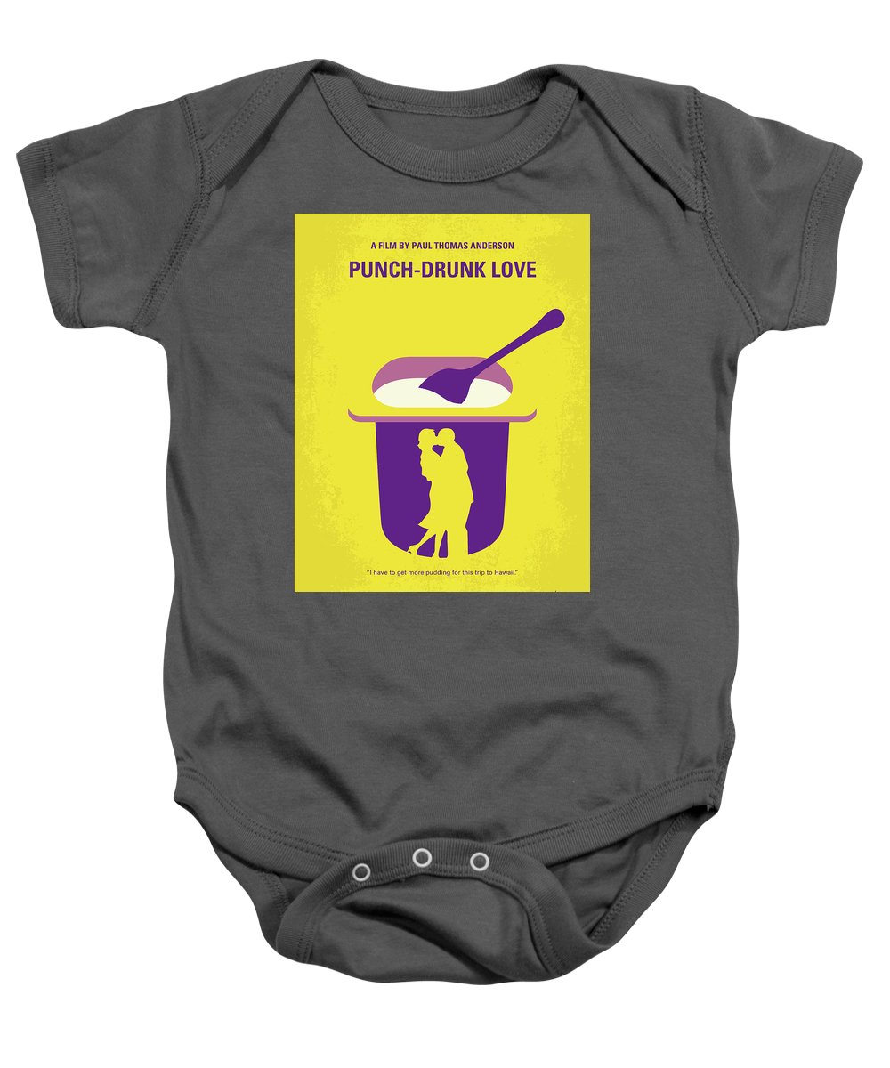 Punch Baby Onesie featuring the digital art No1022 My Punch-drunk Love Minimal Movie Poster by Chungkong Art