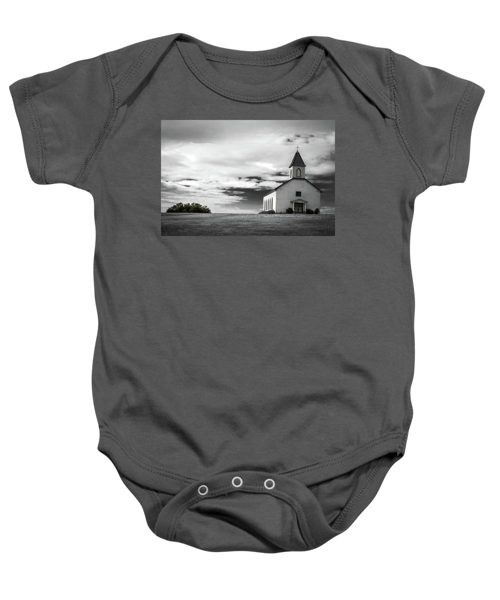 Church Baby Onesie featuring the photograph Old church by Peyton Vaughn