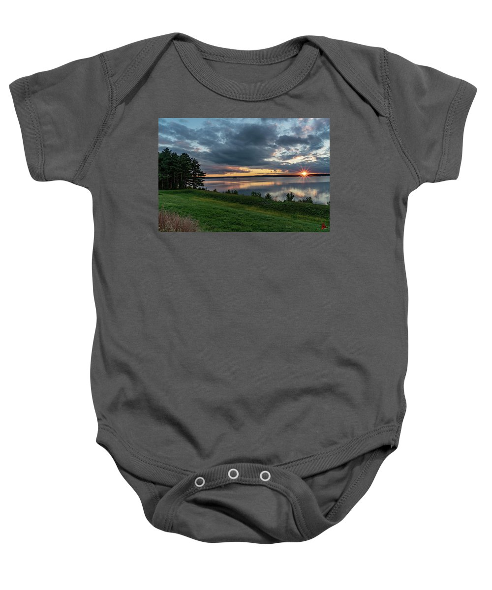 Sunset Baby Onesie featuring the photograph Red Dwarf by Ronald Raymond