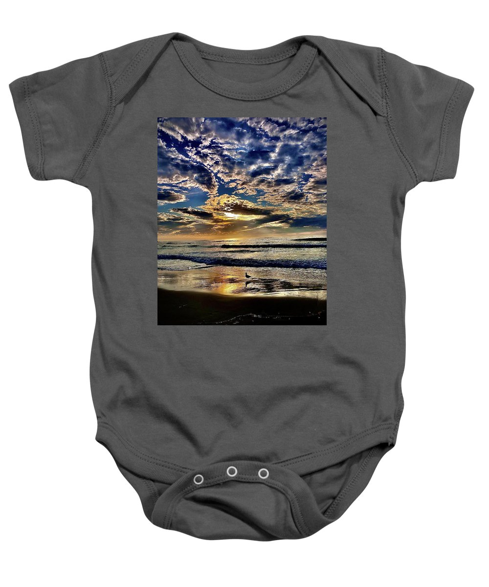 Sunsets Baby Onesie featuring the photograph Reflecting On The Day by Michael Klahr