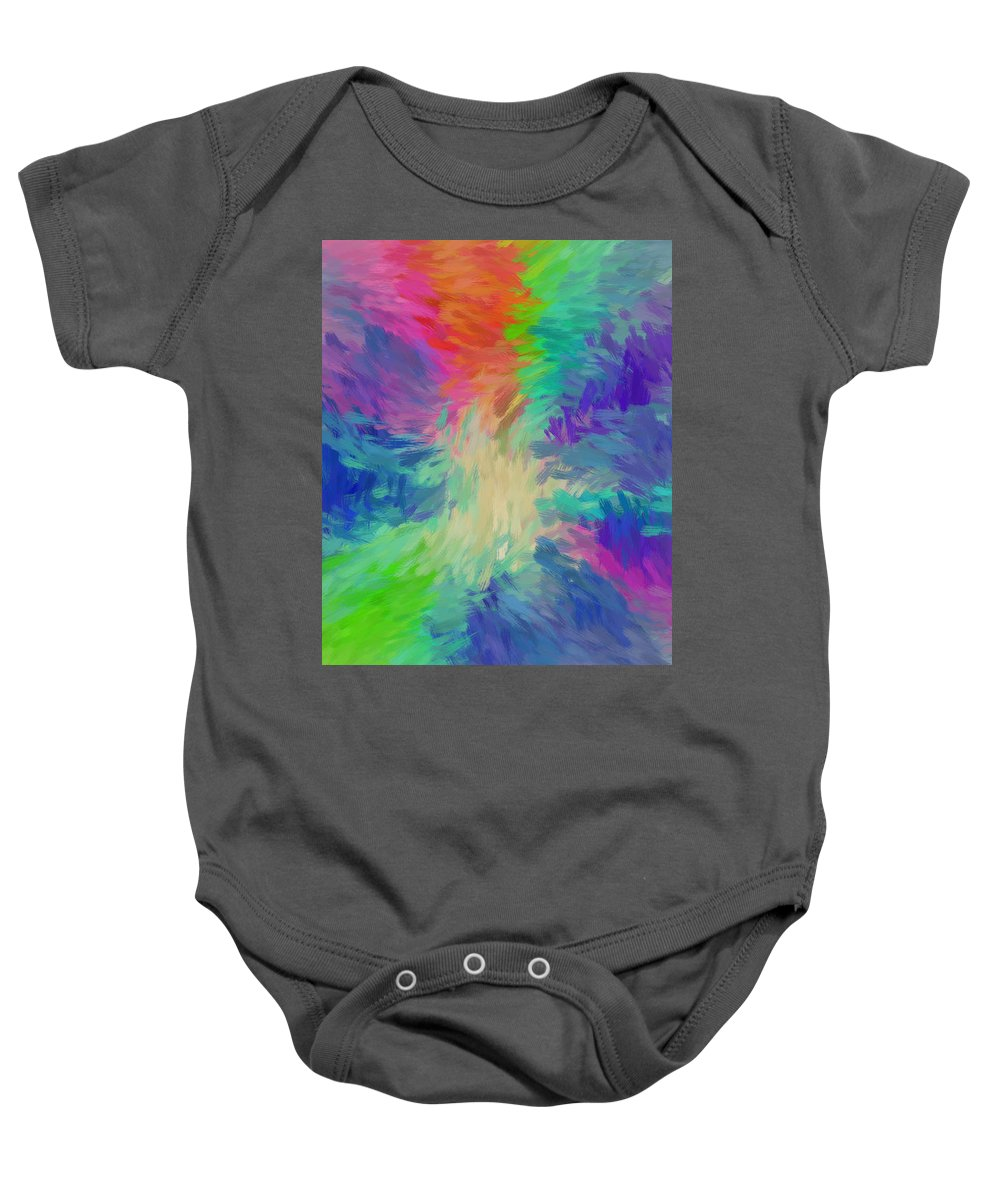 Abstract Baby Onesie featuring the digital art Road To Paradise by Robert Fohr