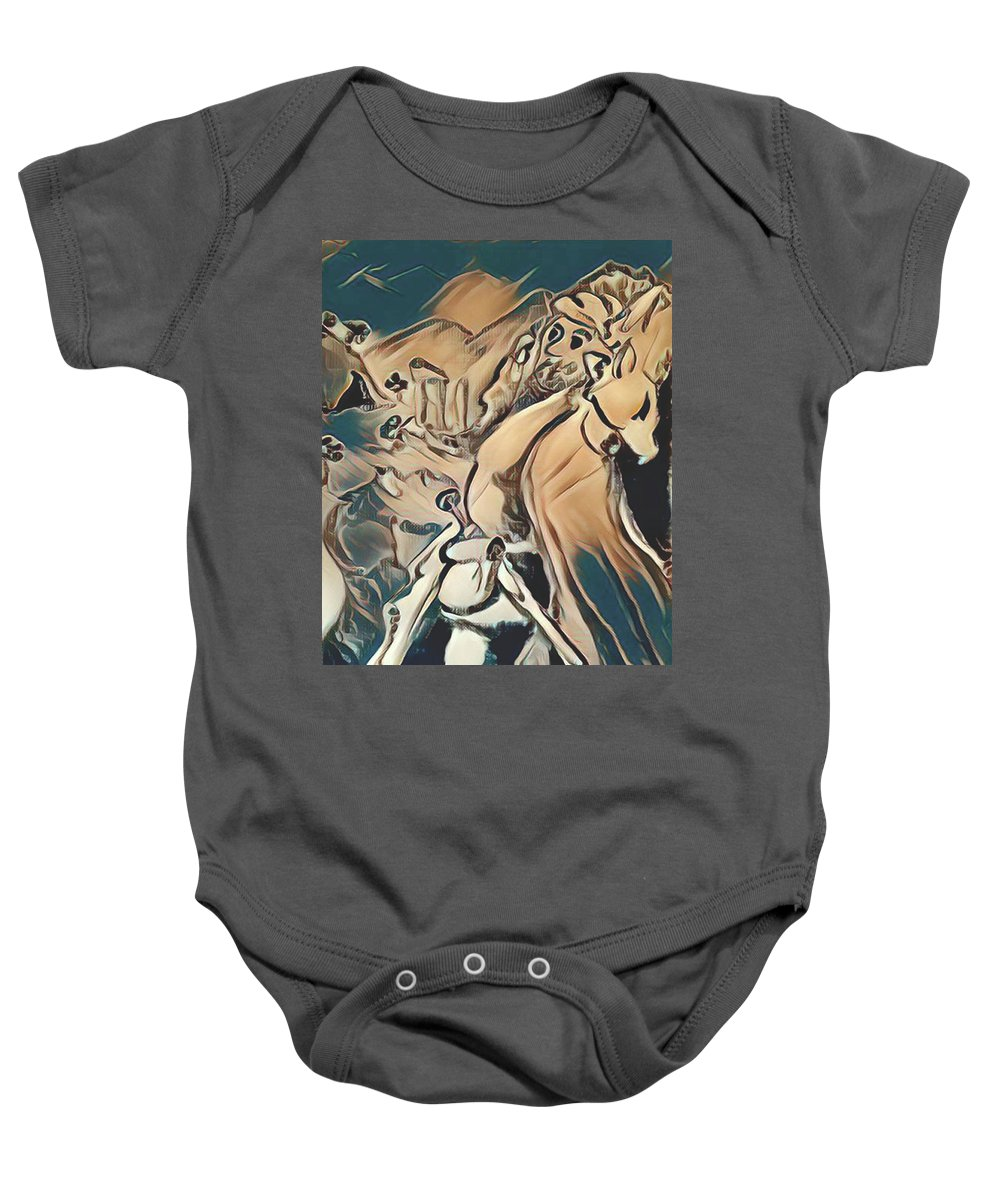 Shepperd Baby Onesie featuring the digital art Sheppherds Temple by Jerry Watkins