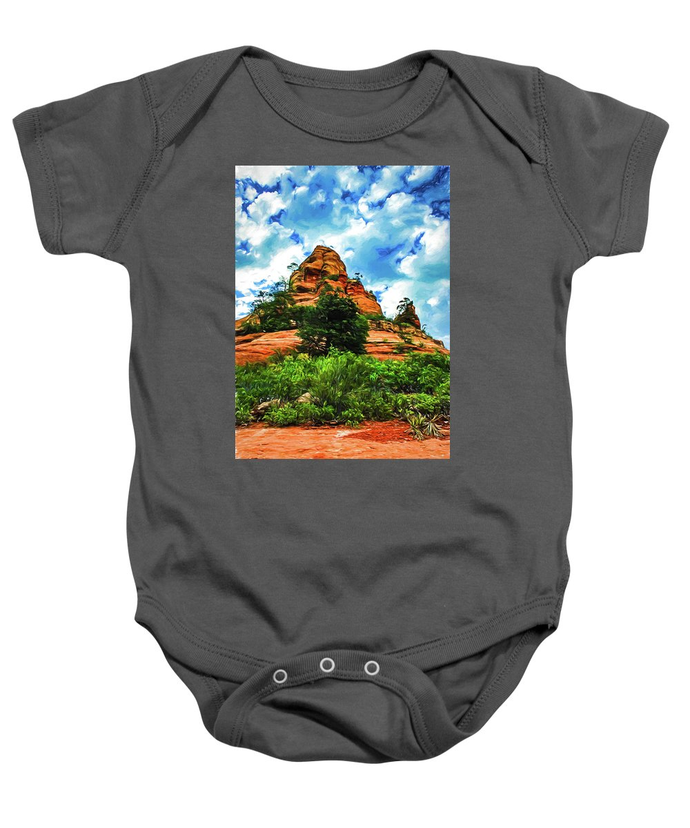 Arizona Baby Onesie featuring the photograph Sterling Pass 04-006 by Scott McAllister