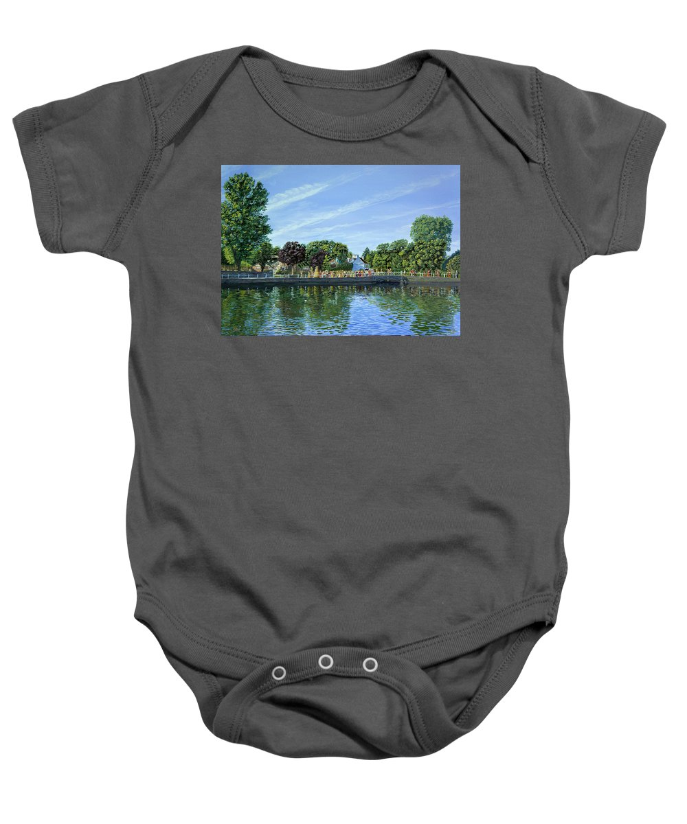 Staw Jack Baby Onesie featuring the painting Straw Jack Carshalton by Raymond Ore