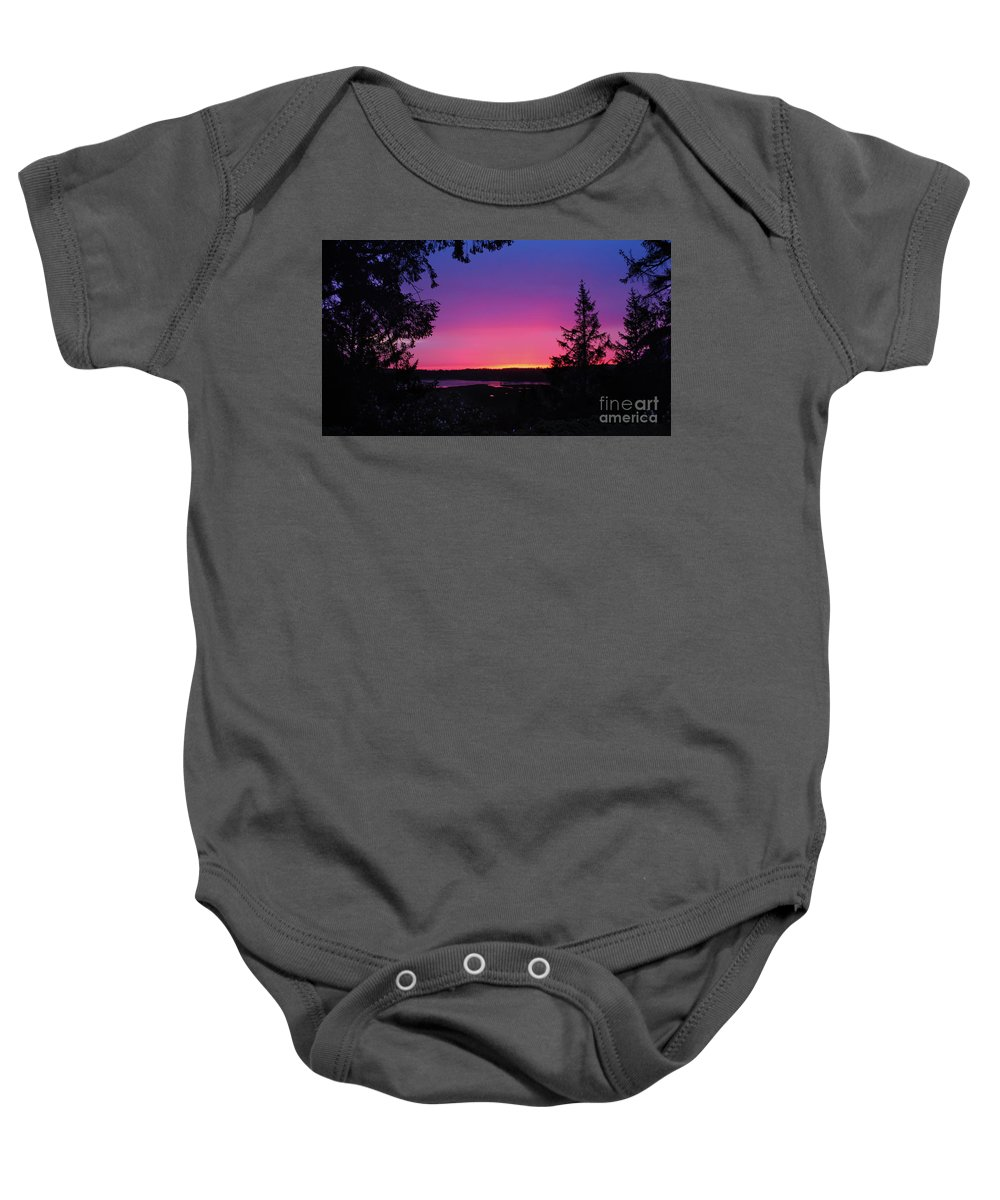 Nature Baby Onesie featuring the photograph Sunset Summer by Michelle Williamson