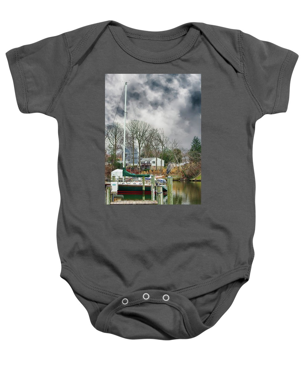 2d Baby Onesie featuring the photograph The Calm Before The Storm by Brian Wallace