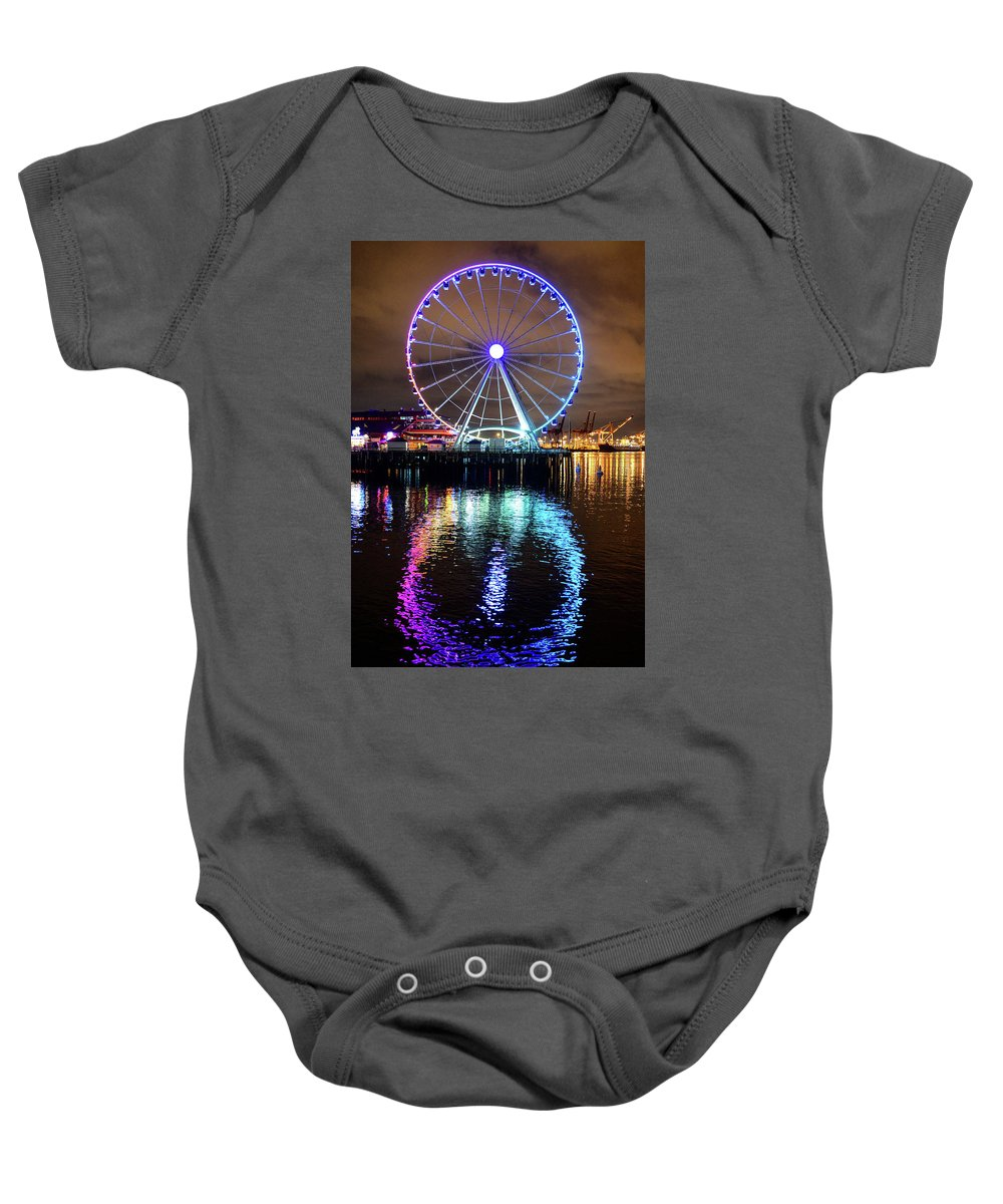 Ferris Wheel Baby Onesie featuring the photograph The Great Wheel by Michael Marlow