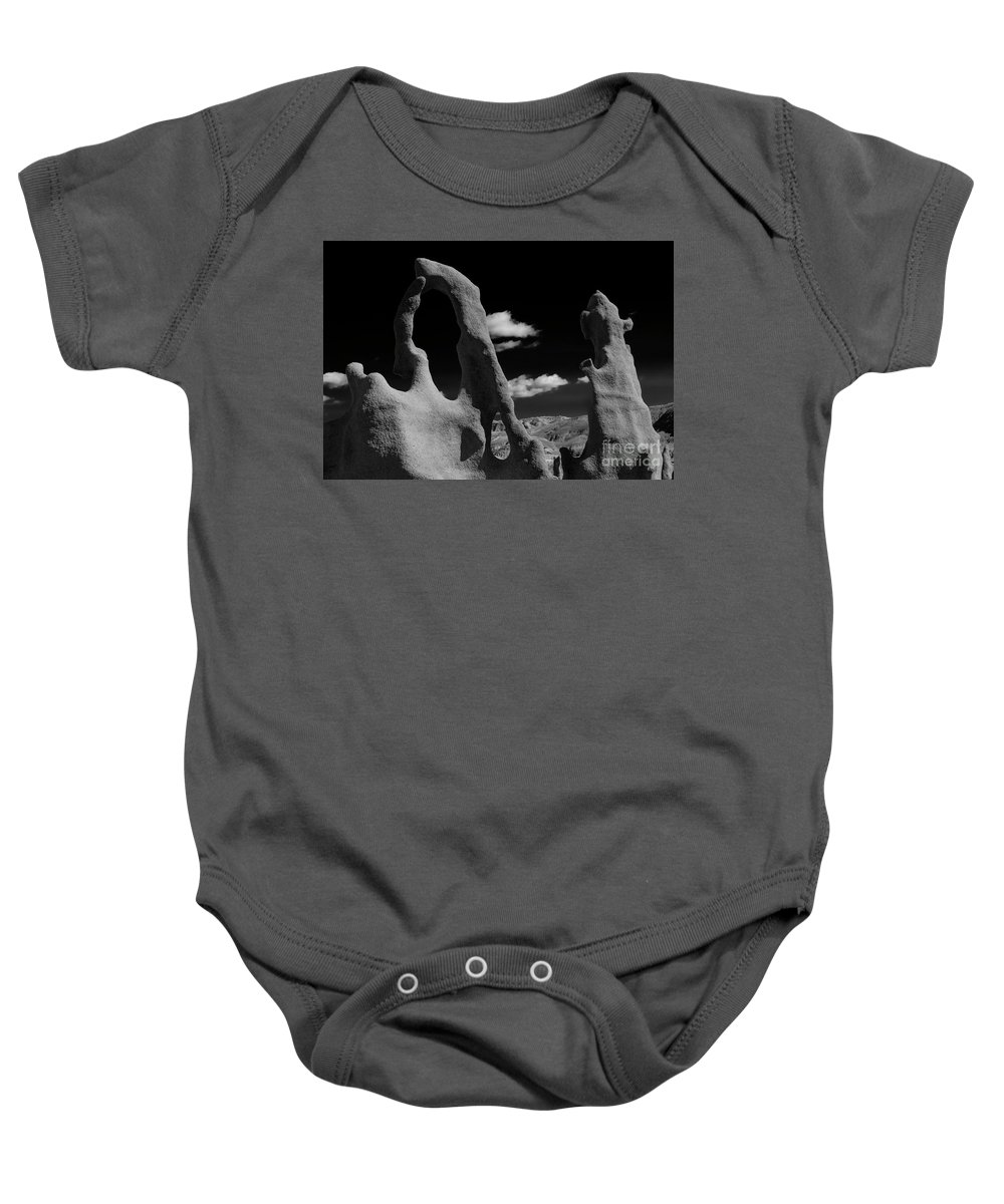 Fantasy Canyon Baby Onesie featuring the photograph The Harp and Staff by Mike Dawson