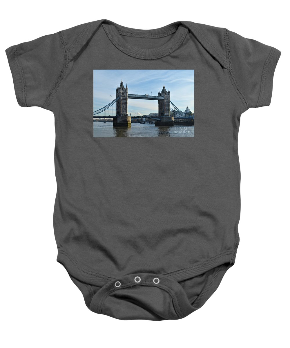 Afternoon Baby Onesie featuring the photograph Tower Bridge At Afternoon In London by Angelo DeVal