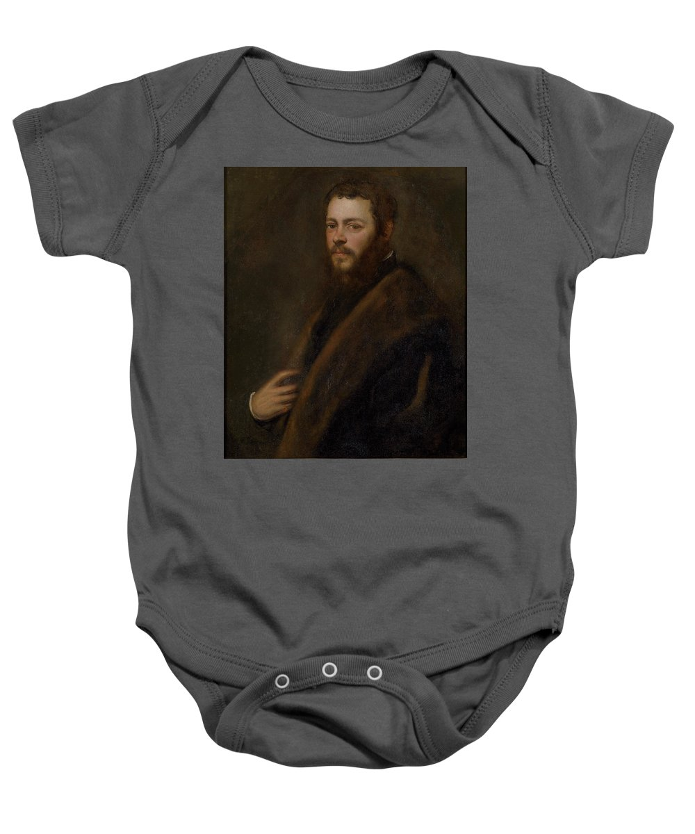 Tintoretto Jacopo Robusti Baby Onesie featuring the painting Un Patricio Veneciano  by Tintoretto Jacopo Robusti