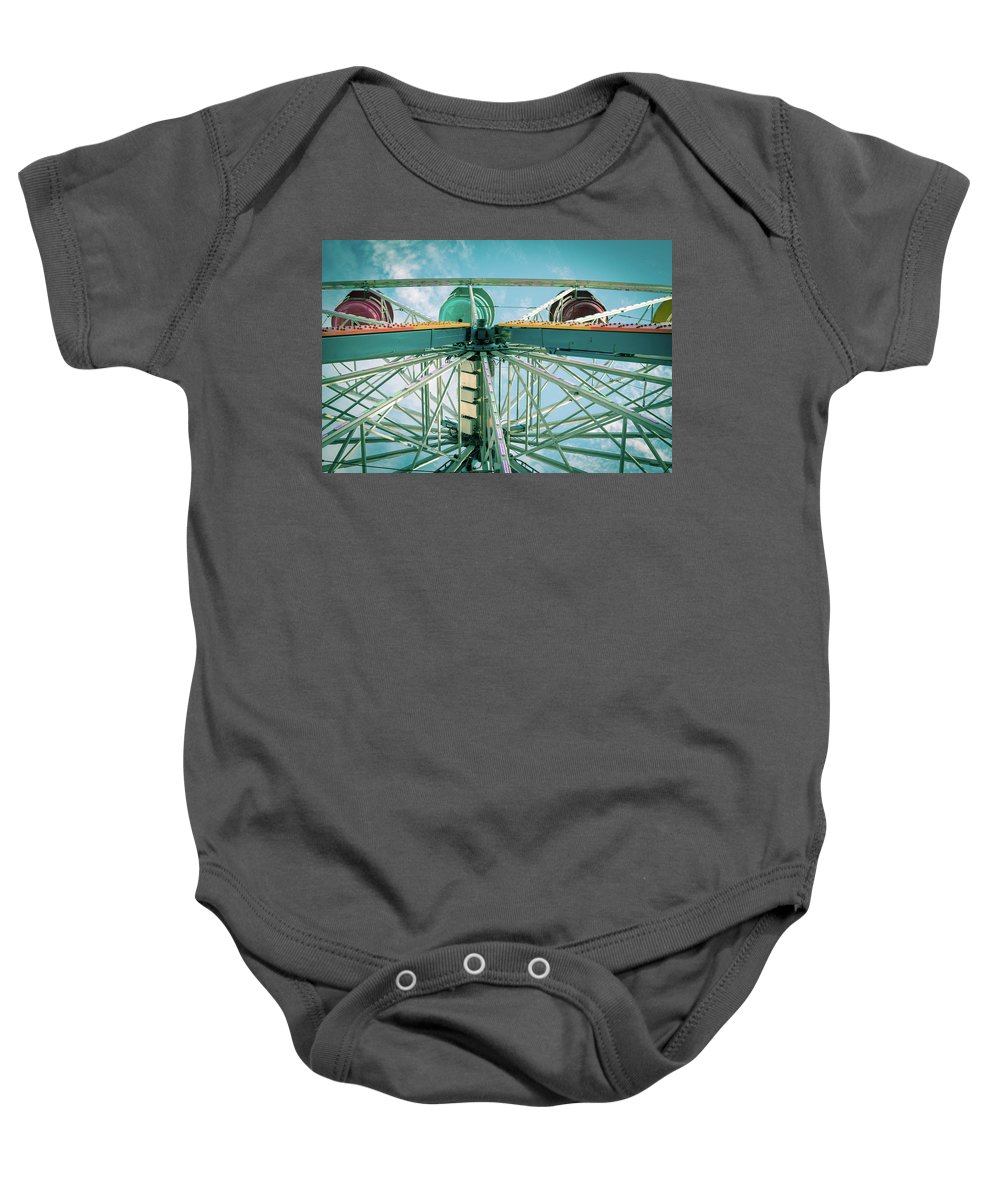 Vacation Baby Onesie featuring the photograph Under The Ferris Wheel by Anthony Doudt