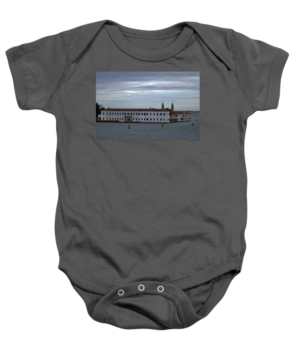 Venice Baby Onesie featuring the photograph Venice Water Scene by John Hughes