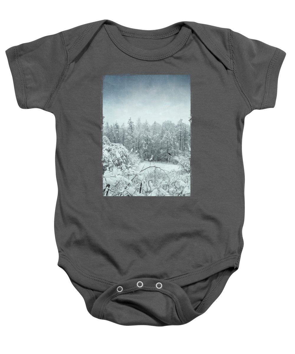 Light Blue Baby Onesie featuring the photograph Winter Landscape by Dirk Wuestenhagen