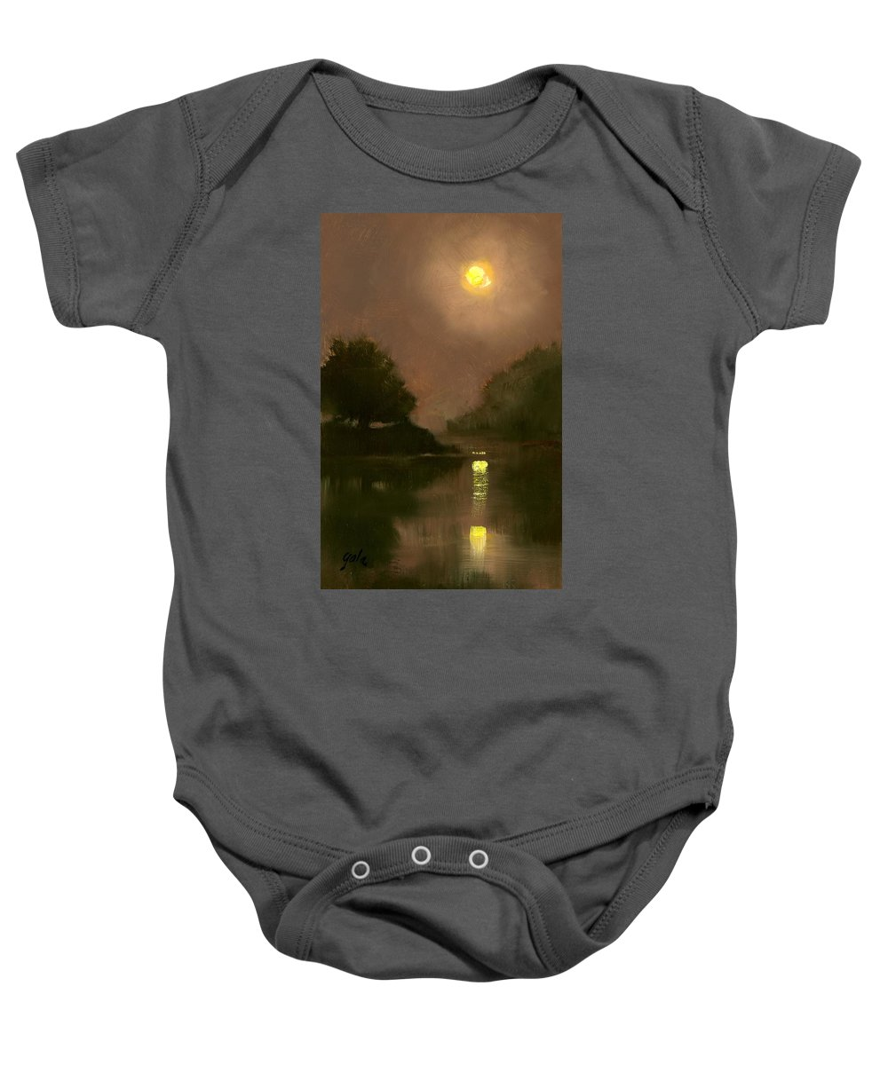Miniatures Baby Onesie featuring the painting A Clear Evening by Jim Gola