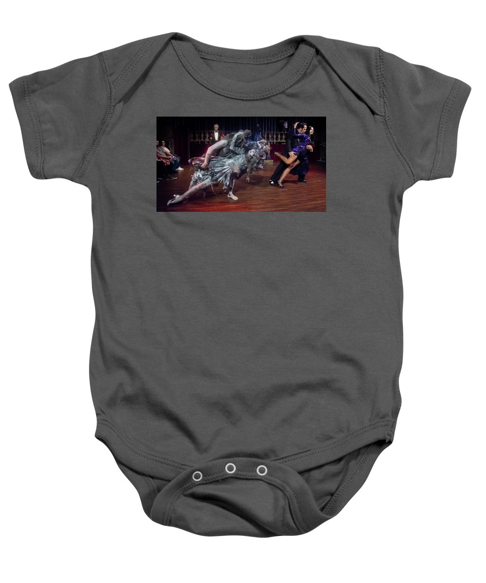 Adams Family Baby Onesie featuring the photograph Adams Family Dance by Alan D Smith