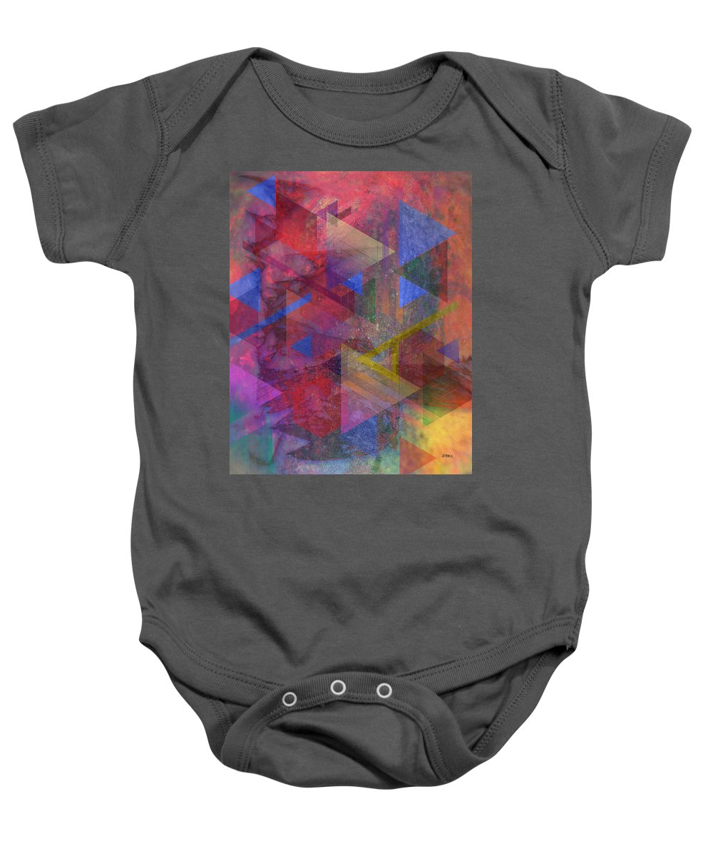 Another Time Baby Onesie featuring the digital art Another Time by Studio B Prints