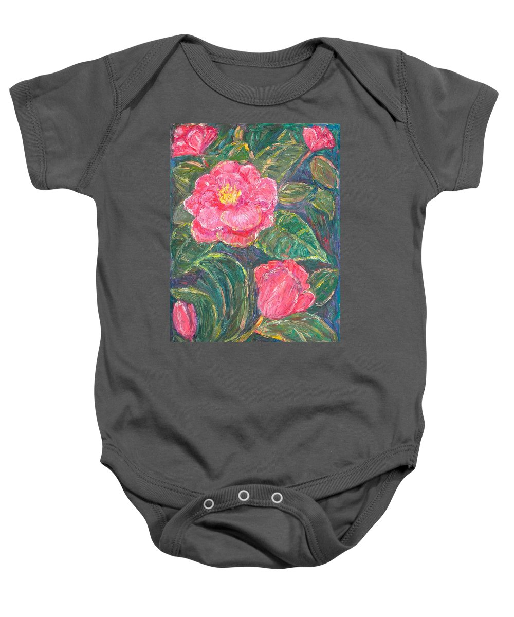 Impressionism Baby Onesie featuring the painting Camelias by Kendall Kessler