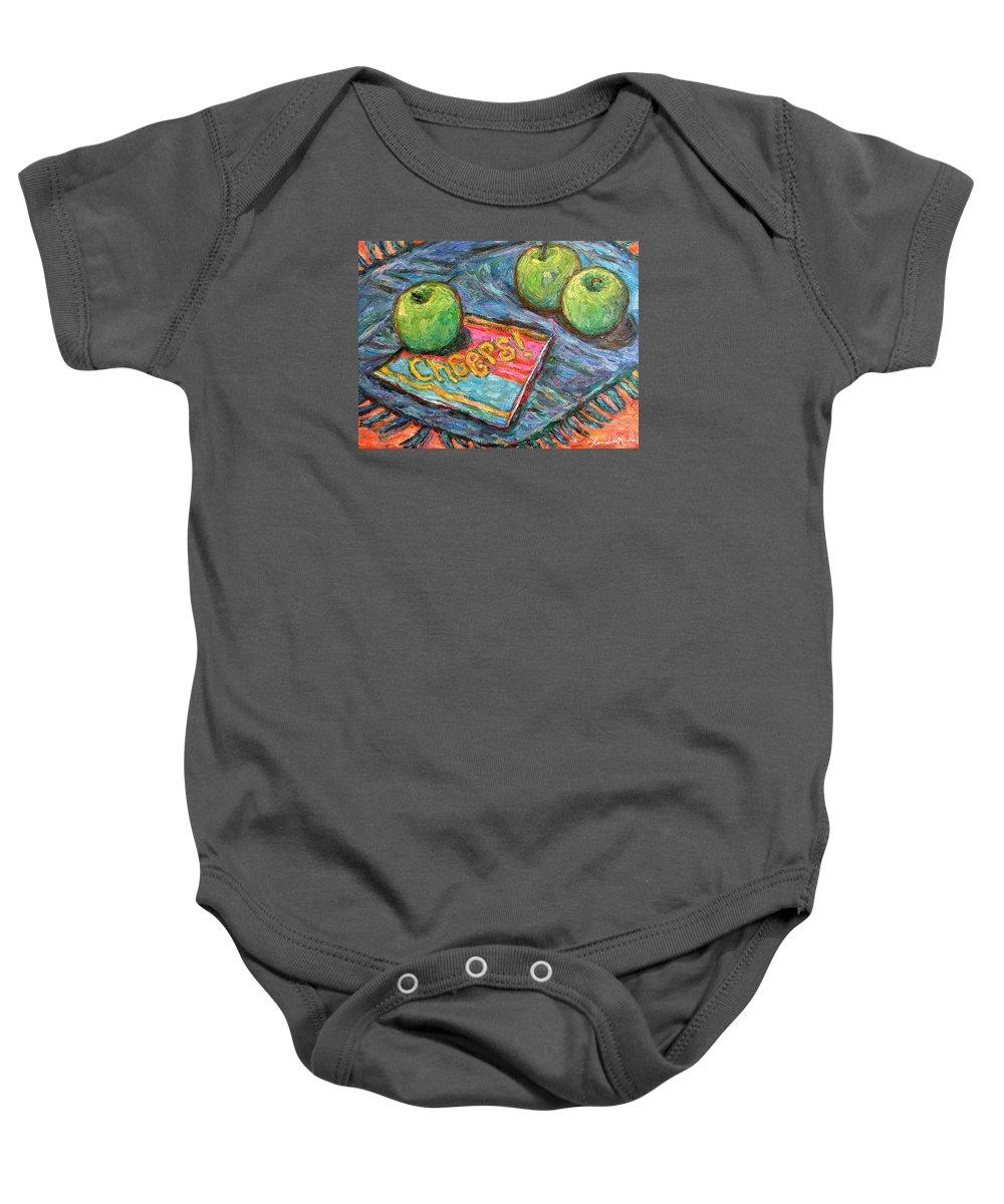 Still Life Baby Onesie featuring the painting Cheers by Kendall Kessler
