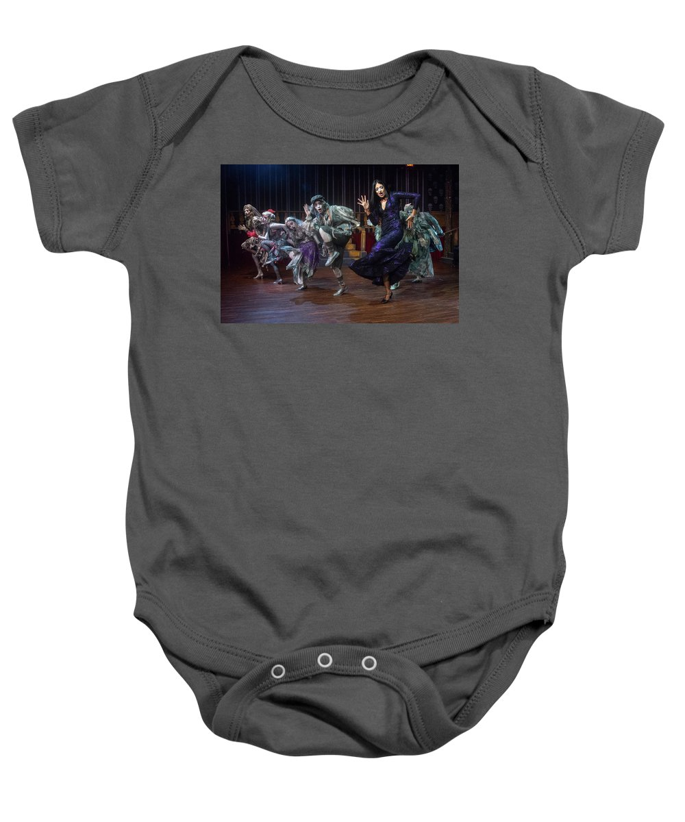 Adams Family Baby Onesie featuring the photograph Dance With The Relatives by Alan D Smith