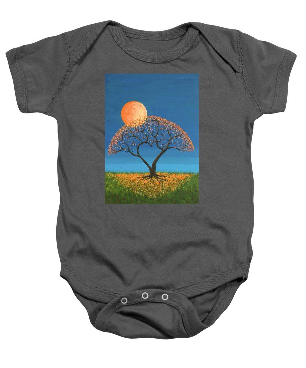 True Love Baby Onesie featuring the painting Falling For You by Jerry McElroy
