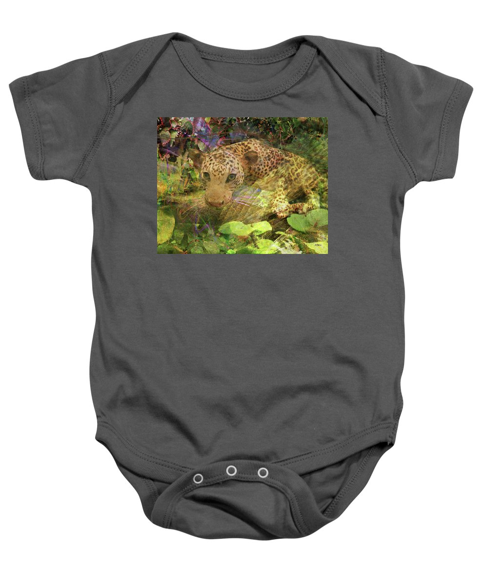 Game Spotting Baby Onesie featuring the digital art Game Spotting by Studio B Prints