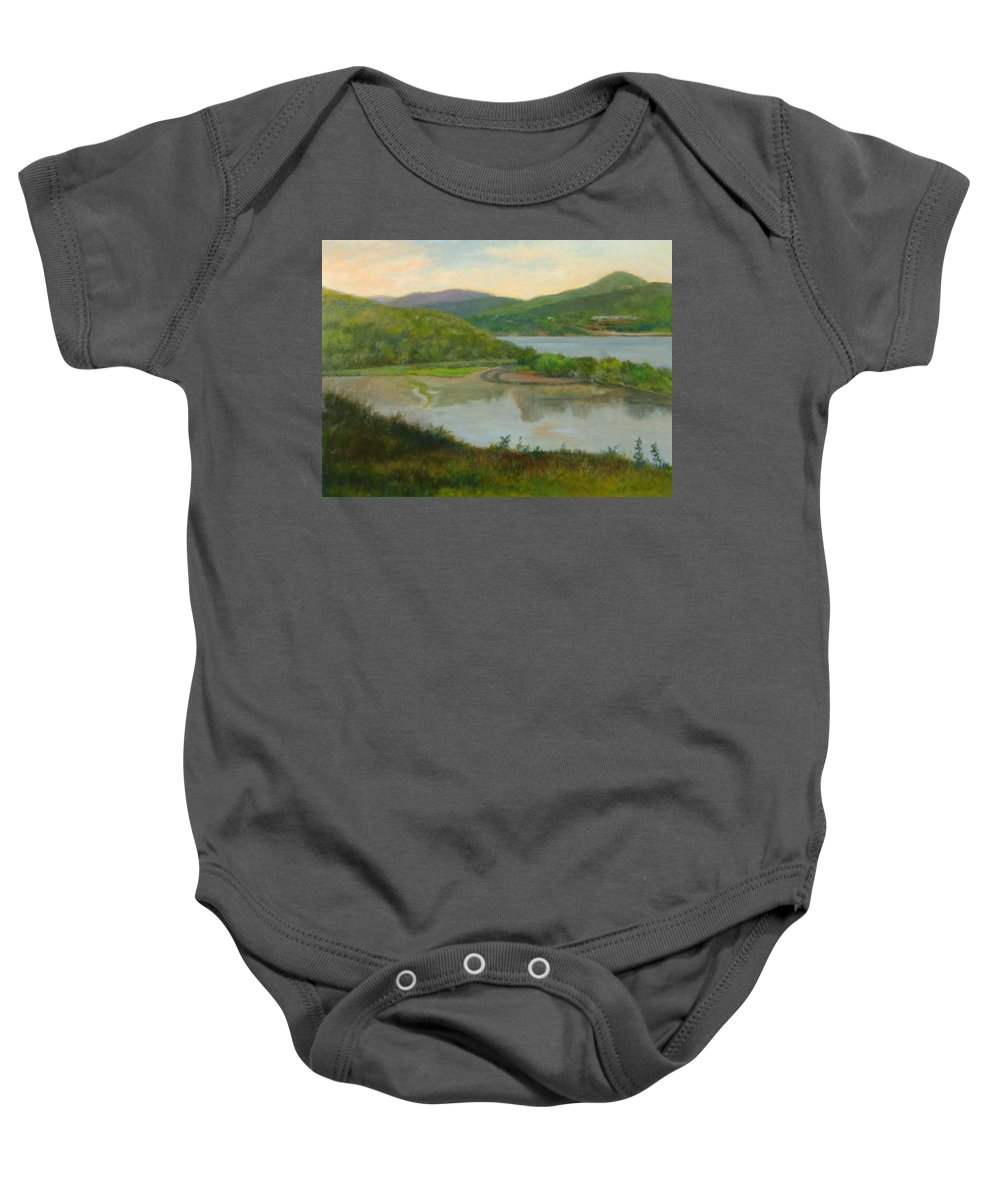 Landscape Baby Onesie featuring the painting Looking South From St. Basil by Phyllis Tarlow